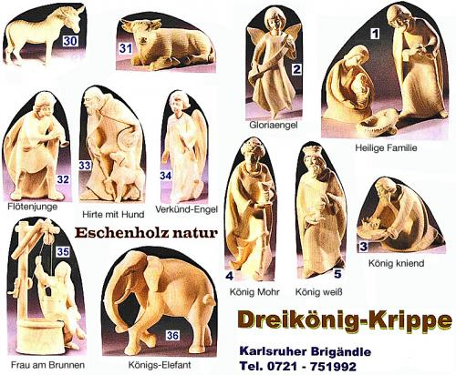 moderne Krippe Eschenholz natur 20cm Hl. Familie 149,-€