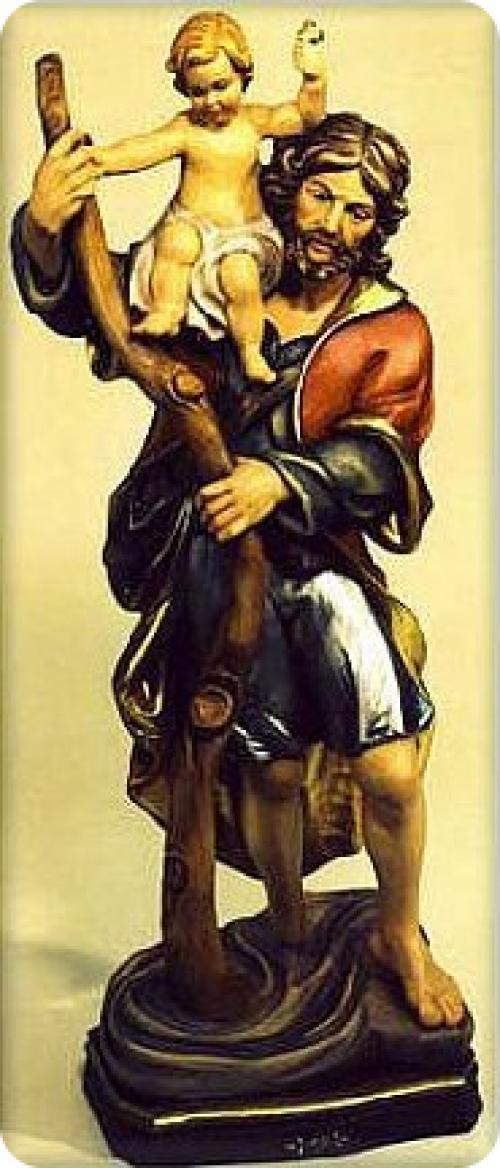 Christopherus mit Jesuskind auf der Schulter