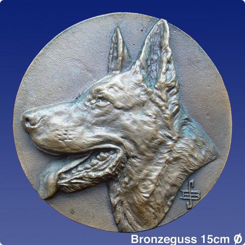Bronze, Schäferhund, Türdrücker,