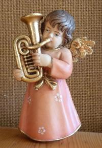 Putte mit Instrument - Posaunen-Engelchen, Mozartengel