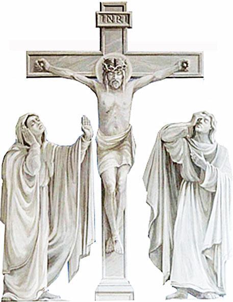 Kreuzgruppe Jesus Maria und Johannes