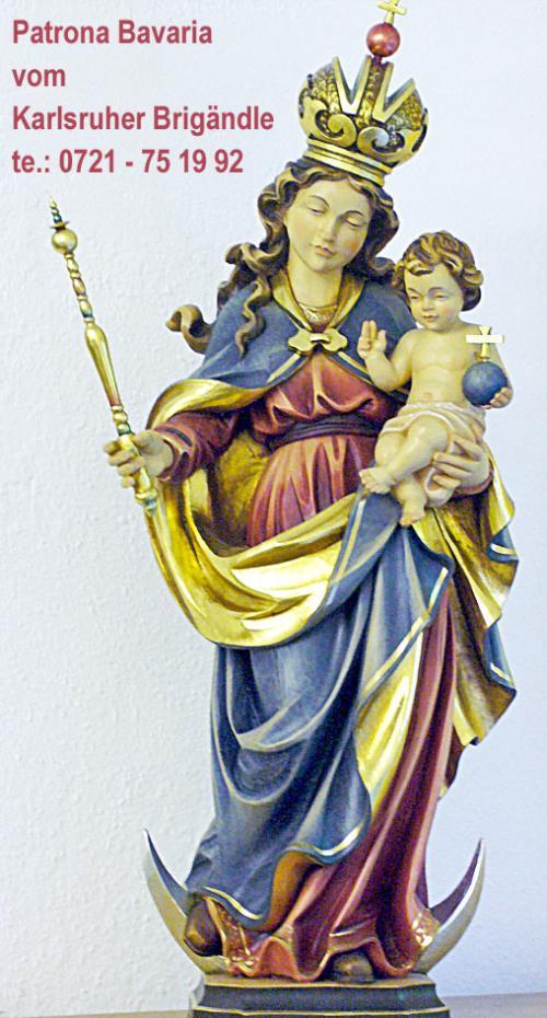 Muttergottes mit Krone und Jesuskind