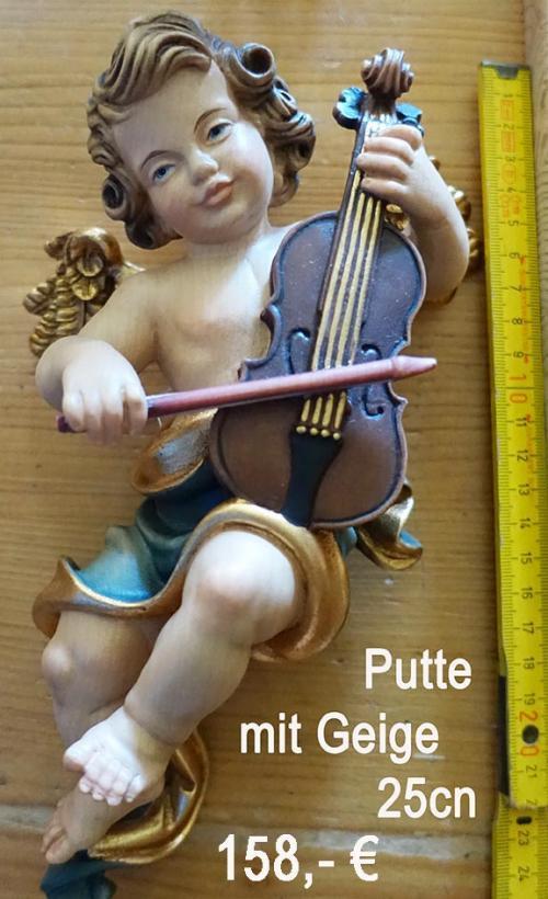Putte mit Geige 25cm