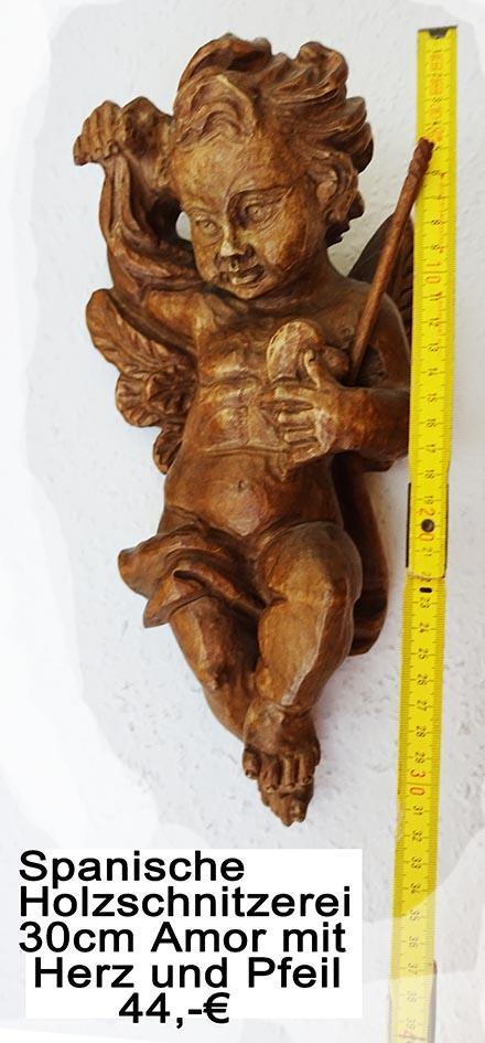 Spanische Holzschnitzerei Amor mit Herz und Pfeil 30cm.jpg