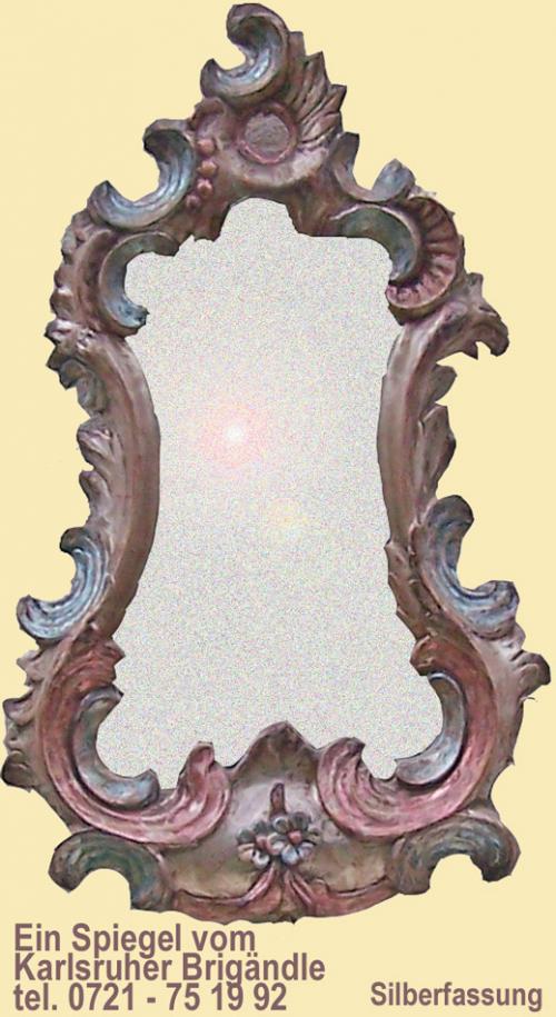 Spiegel in Altsilber-Fassung