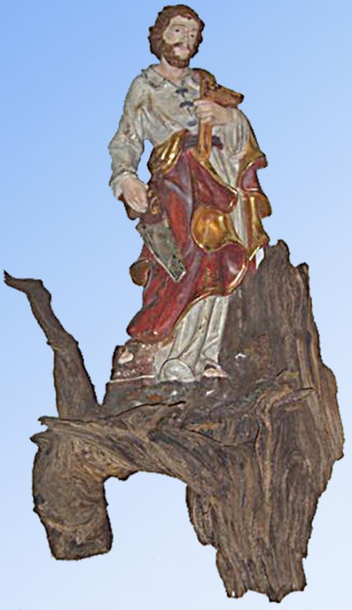 Hl. Josef aus Altholz geschnitzt in Blattgold-Fassung